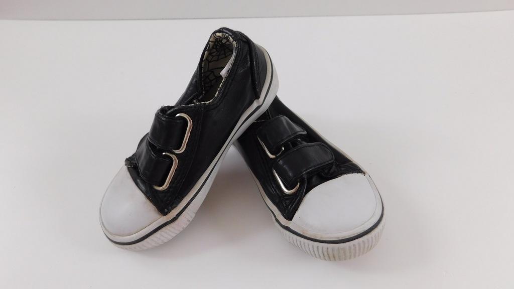 Czarne trampki buty converse 21 skóra Galeria zdjęć i