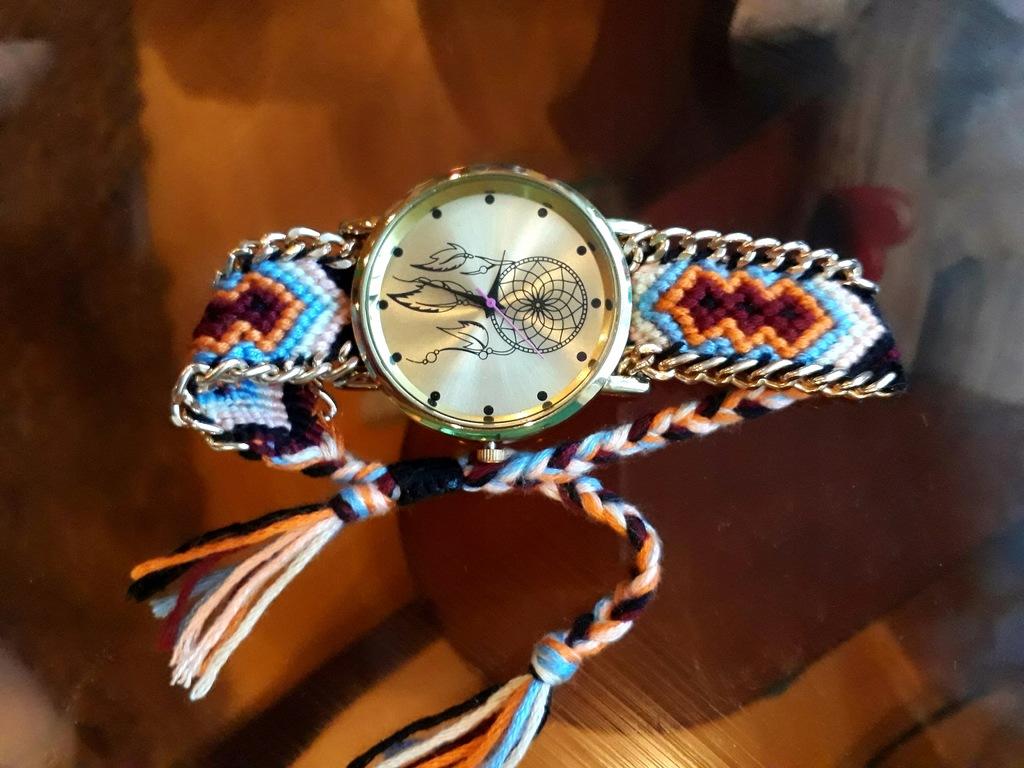 Zegarek łapacz snów nowy,b.opakowania,4cm tarcza