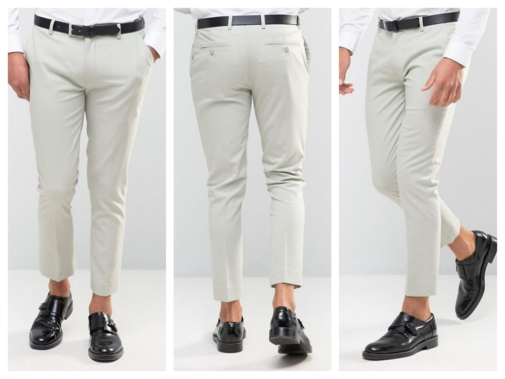 mf0 spodnie skinny szare eleganckie jasne W29 L30