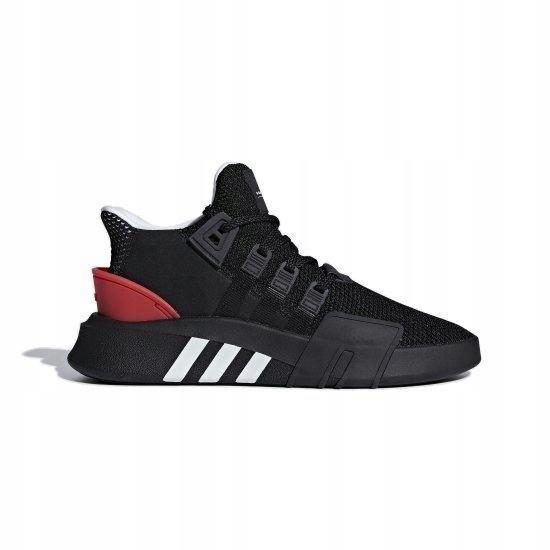 Sneakers buty Adidas Originals EQT Bask ADV core black ftwr white hi res red (AQ1013)