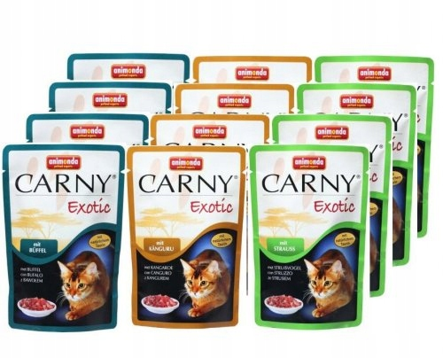 Animonda saszetki dla kota Carny Exotic - mix- 12