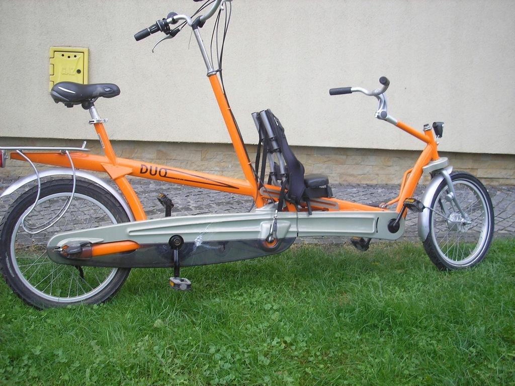 rower tandem kierowany z tyłu WYPAS
