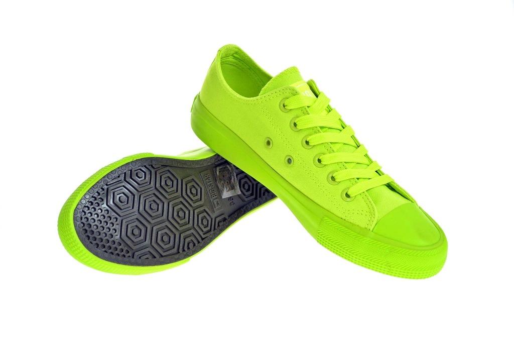 Zielone neonowe Trampki BIG STAR W274958 r.36