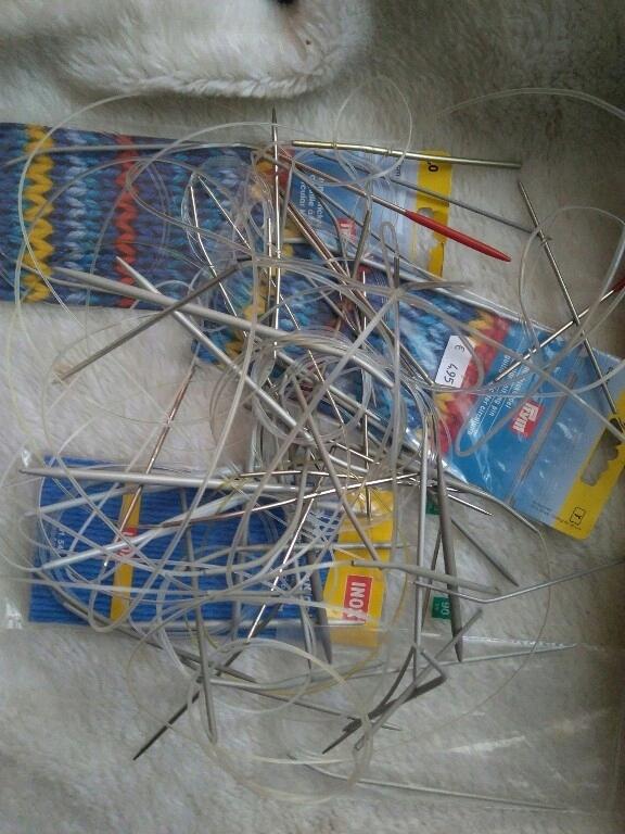 zestaw druty dziewiarskie na żyłce N1