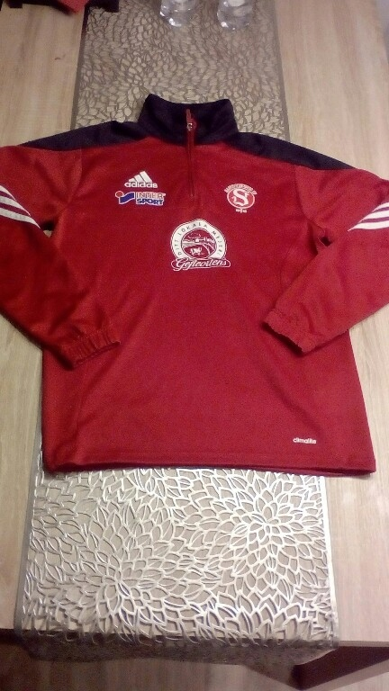 Adidas Intersport Czerwona Bluza Meska S