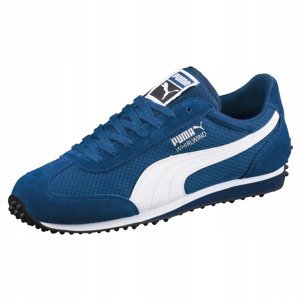 Niebieskie Skórzane Buty Trampki Puma rozmiar 40,5