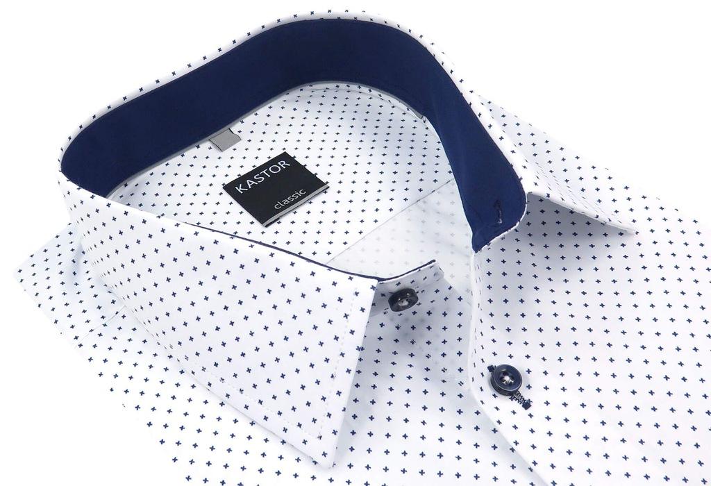 Biała koszula męska KASTOR K58+ 176 182 42 SLIM 7175978991  uzlS4