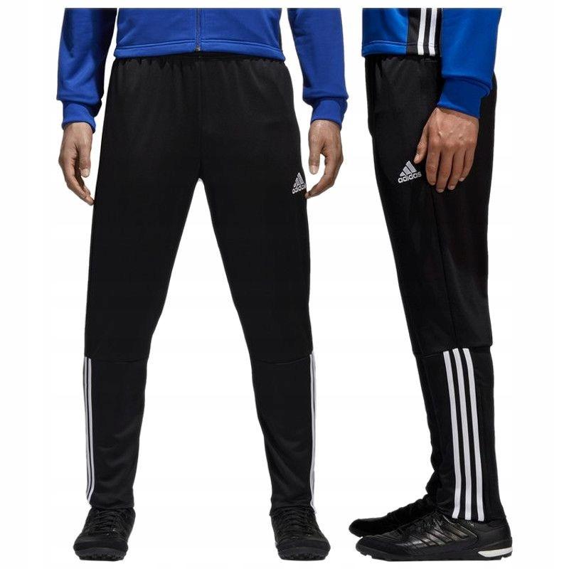 Adidas Spodnie dresowe piłkarskie zapinane kieszenie 3 paski CZ8657