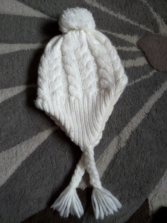 Kappahl gruba zimowa czapka ecru r.52/54