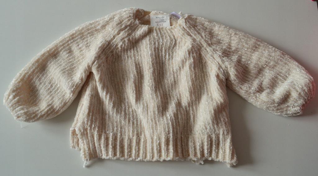 Ciepły sweterek niemowlęcy Zara rozm. 80 HIT