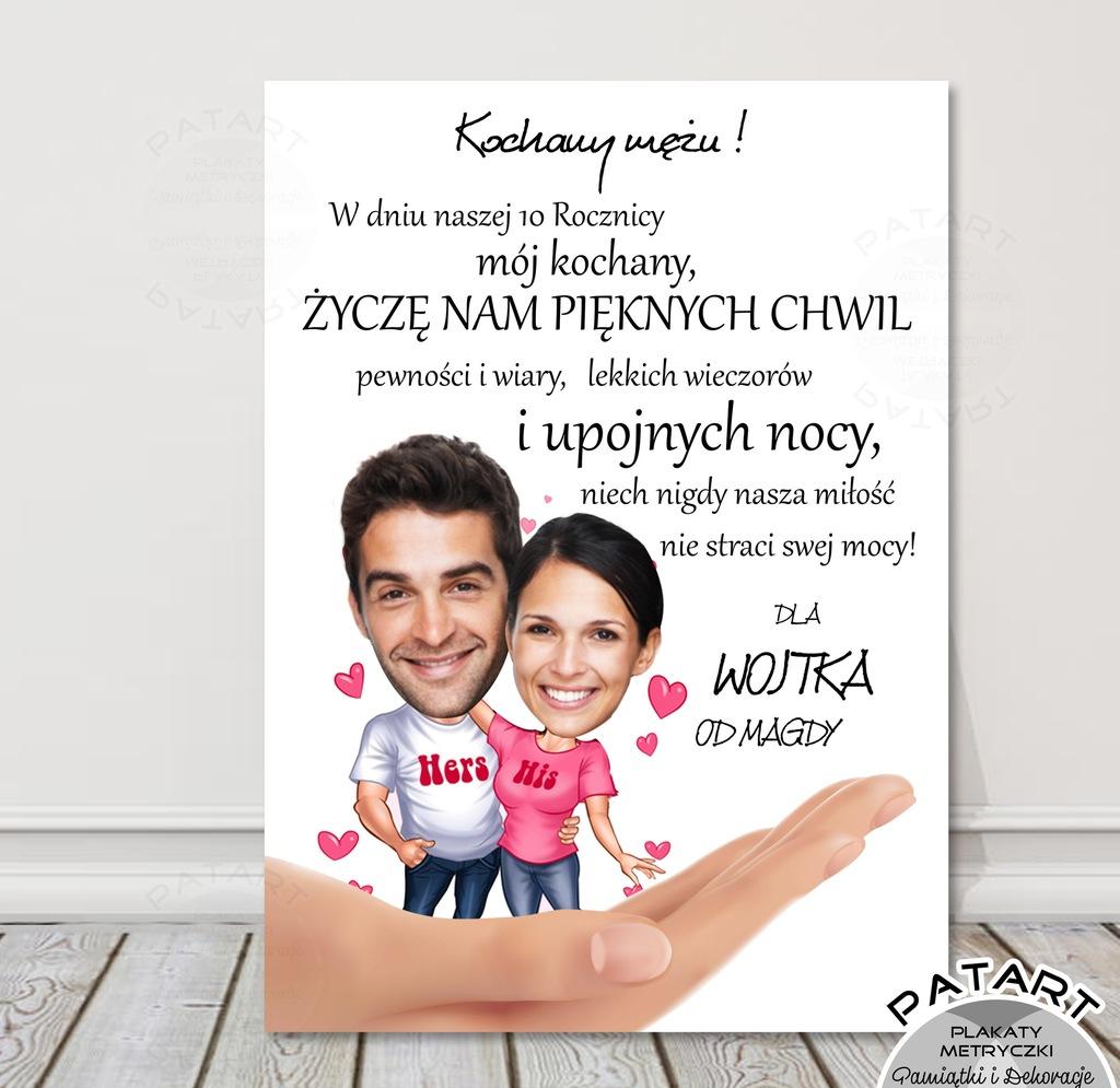Dla żony Męża Plakat A3 Z Jajem Urodziny Rocznica