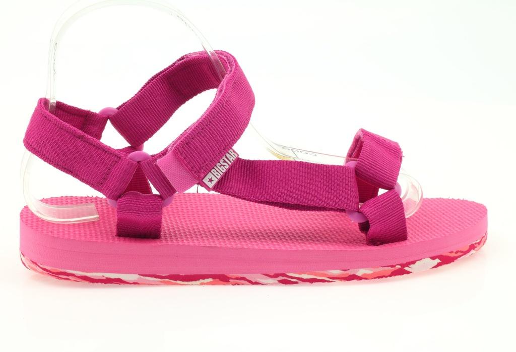 Sandały damskie piankowe Big Star fuksja różowe   Sandały