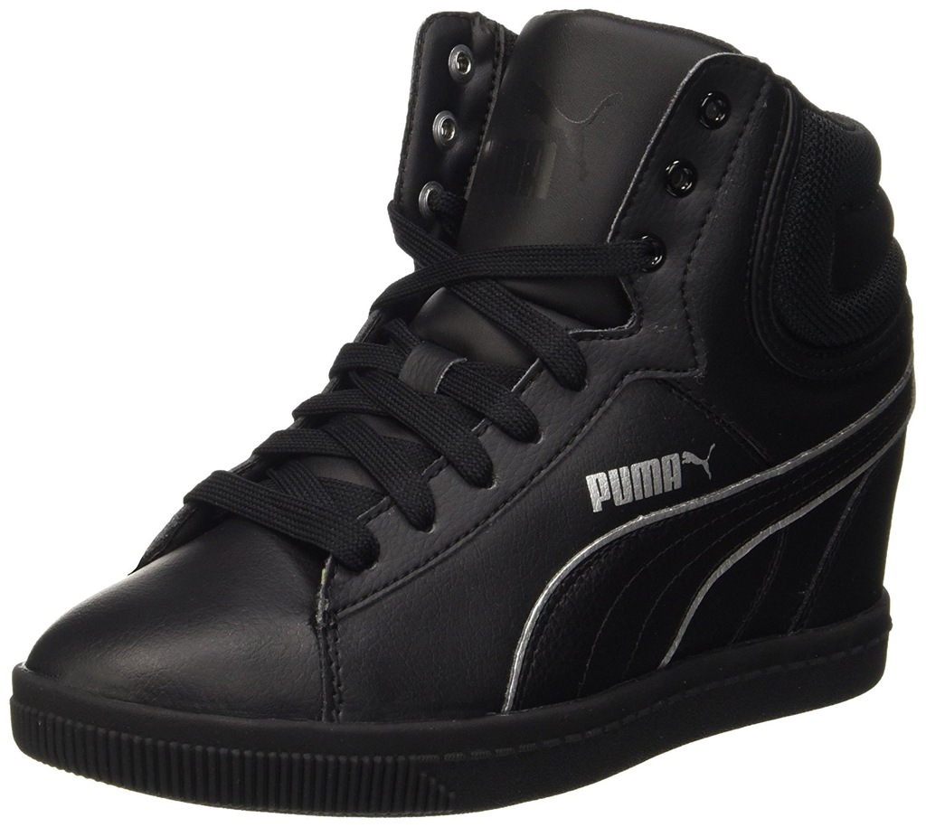 Puma Vikky Wedge Blackwhite