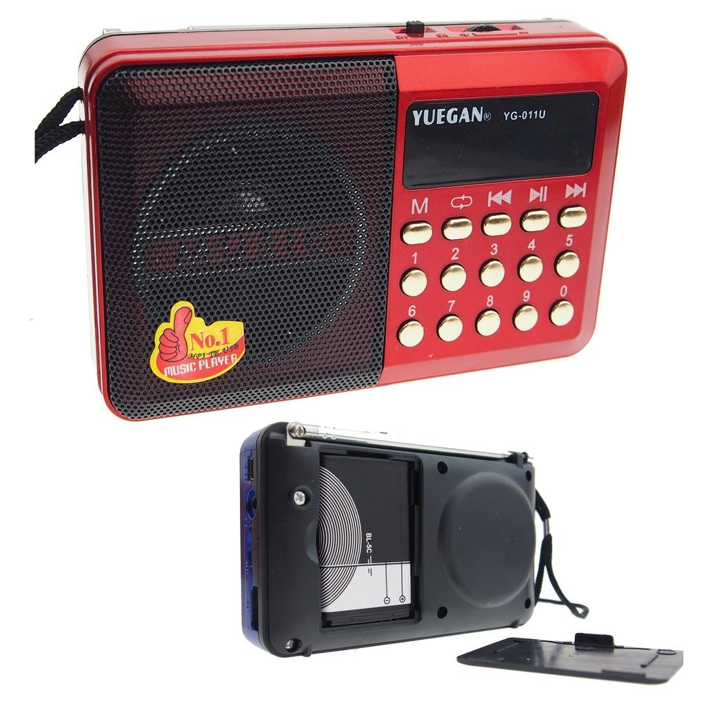 Przenośne radio turystyczne z USB i microSD