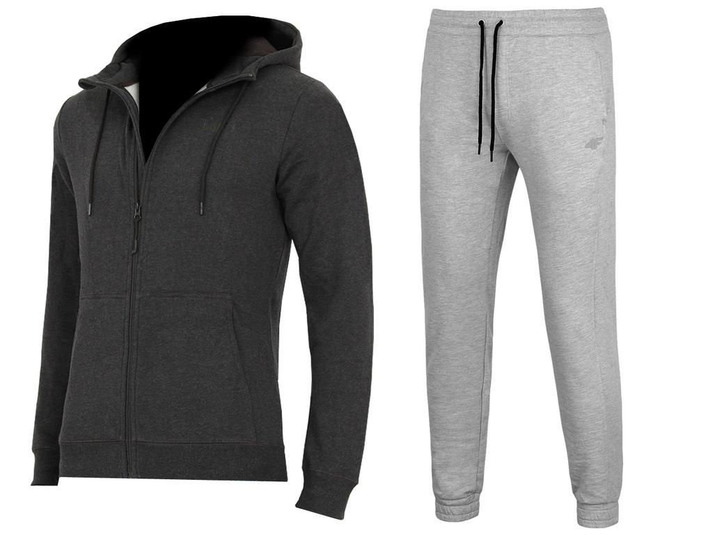 4F MĘSKIE Bluza Spodnie DRESY KOMPLET L