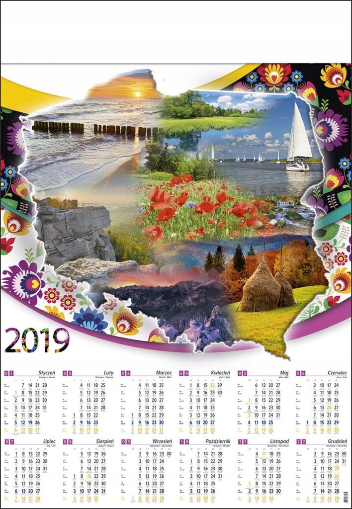 Kalendarz Plakatowy B1 Krajobraz Widoki Gory B1 01 7644816824 Oficjalne Archiwum Allegro