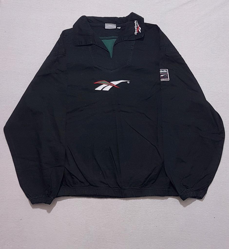 bluza rugby L czarna Reebok