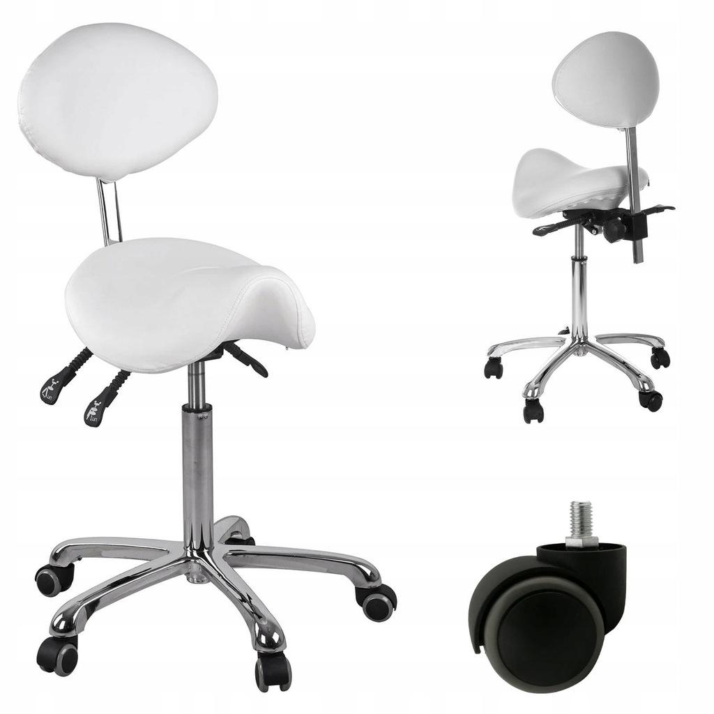 Krzeslo Obrotowe Kosmetyczne Siodlowe Biale Physa 6748547388