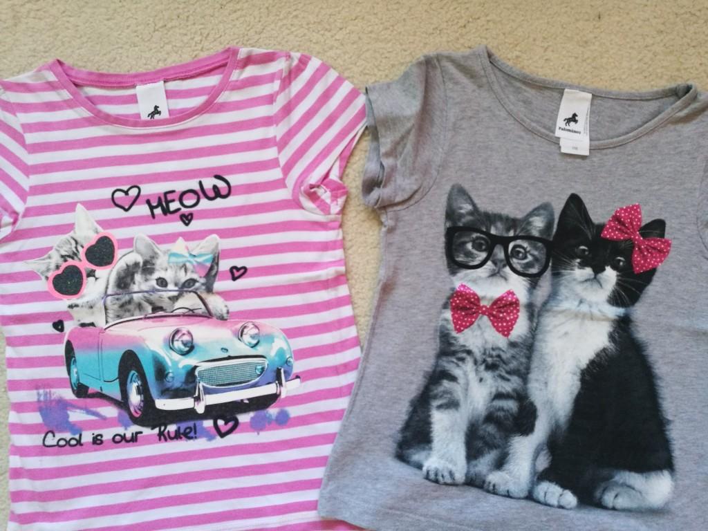 c&a t-shirt z kotkami dwupak r 116