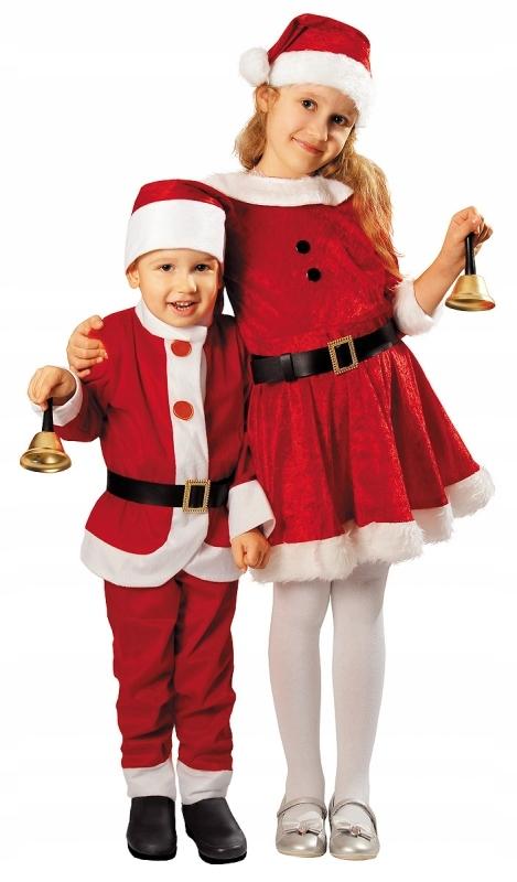 Stroj Mikolaj Dla Dzieci 92 104 Kostium Swiateczny 7674331757 Oficjalne Archiwum Allegro