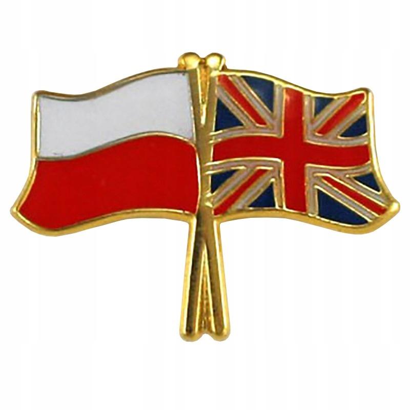 Przypinka Pin Flaga Polska Wielka Brytania 7565953981 Oficjalne Archiwum Allegro