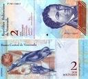 ~ Wenezuela 2 Bolivares F. 2007 P-88 UNC Piękny A!