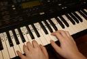 Etykiety nuty dźwięki ułatwiające naukę (keyboard)