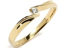 ZŁOTY 585 pierścionek z CYRKONIA.zaręczynowy w.24h