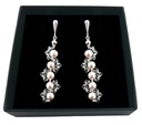 Kolczyki ŚLUBNE SWAROVSKI perły kryształy 1682