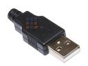 USB 2.0 wtyk USB A na kabel z osłoną
