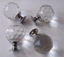Kryształowa gałka, uchwyt do szafek 30 mm chrom!