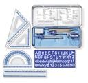 ZESTAW GEOMETRYCZNY STAEDTLER 10 elementów metal