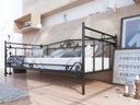 Łóżko metalowe do salonu sypialni 100x200 wzór 13