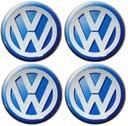 Naklejki na kołpaki emblemat VW 55mm sil niebieski