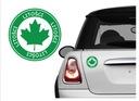 Naklejka na samochód -Zielony Listek dla Kierowcy
