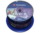 VERBATIM DVD+R 4,7GB PRINTABLE cake 50 DO NADRUKU