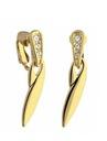 Lange Mode Clip auf Ohrringe Gold/Silber Strass COLIBRA