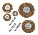 Szczotki stalowe tarczowe 25,0-75,0mm 5sztuk