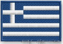 NASZYWKA termo - FLAGA GRECJA, GREECE - haft