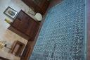 DYWAN VINTAGE 80x150 KWIATY turkus szary #B832 Przeznaczenie do wnętrz