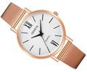 Zegarek damski GENEVA klasyczny biały złoty