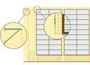 BIAŁY PIŁKOCHWYT NA OKNA ŚCIANY DO HAL 45mm fi 3mm Głębokość bramki 123 cm