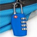 2 szt. KŁÓDKA Travel Buddy system TSA zamek 4-PIN Kod produktu 2XTSAPL(BLUE)