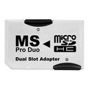 ADAPTER MS MEMORY STICK PRO DUO 2 x MICRO SDHC PSP