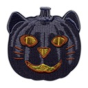 Naszywka-Czarny DYNIOWY KOT Halloween PUMPKIN CAT