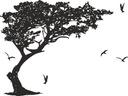 SZABLON MALARSKI DRZEWO szablony malarskie 180cm