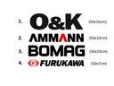 Naklejka logo O&K AMMANN BOMAG FURUKAWA