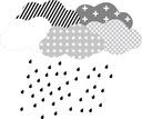 Naklejki na ścianę chmurki skandynawskie deszcz