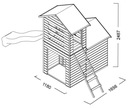 Drewniany Domek Ogrodowy Dla Dzieci Robert + Ślizg Wiek dziecka 3 lata +