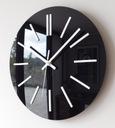 Cichy zegar ścienny Glamour połysk CZARNY 40 cm A4 Kolor biały czarny inny